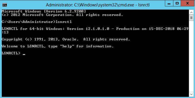 Oracle Database 12c Network configuration