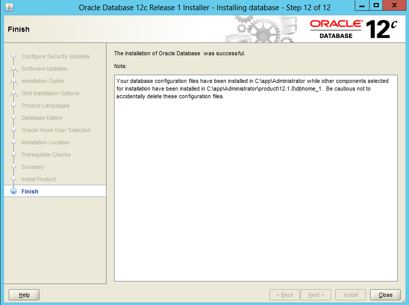 Installing-Oracle-Database-12c-Software-on-Windows 12