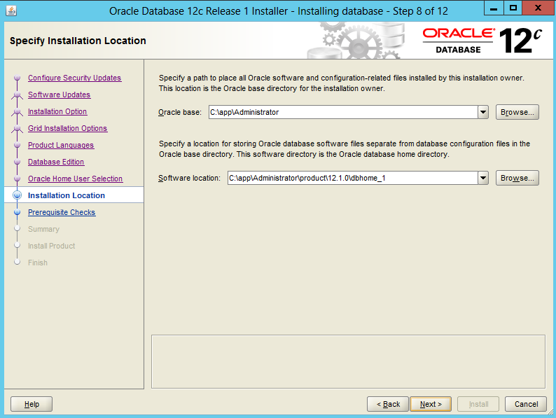 Installing-Oracle-Database-12c-Software-on-Windows 9