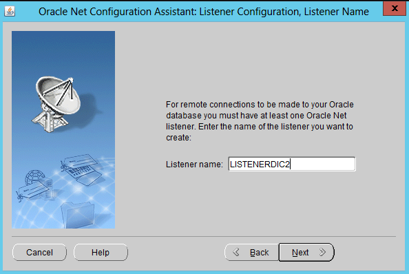 how to configure an Oracle Database Listener 4