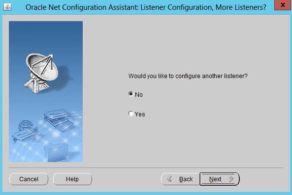 how to configure an Oracle Database Listener 9