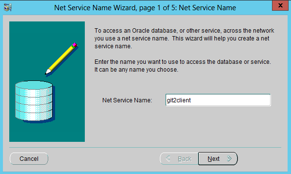 Oracle database 12c client configuration