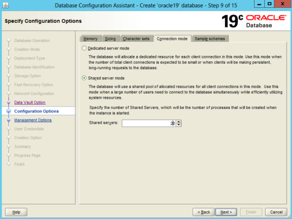 Create an Oracle Database 19c on Windows 13