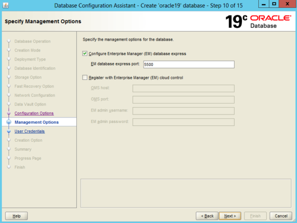 Create an Oracle Database 19c on Windows 15