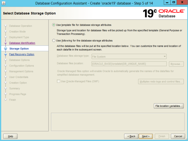 Create an Oracle Database 19c on Windows 5