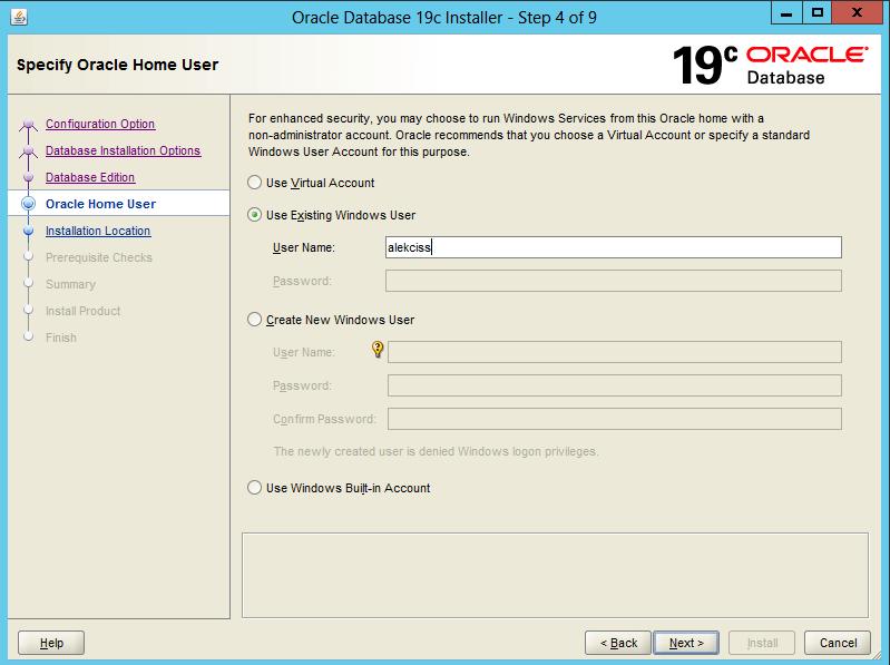 Install Oracle 19c on Windows Server 1-1
