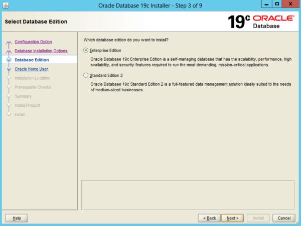 Install Oracle 19c on Windows Server