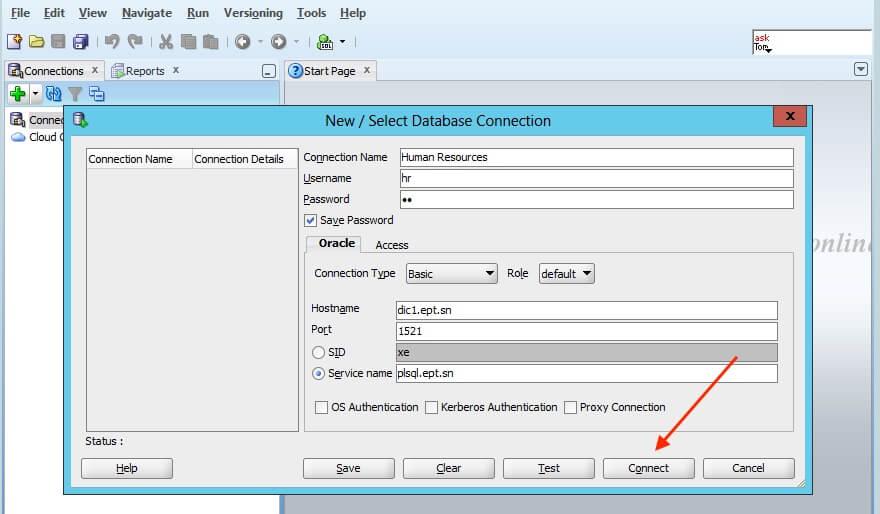 6. Connection parameters