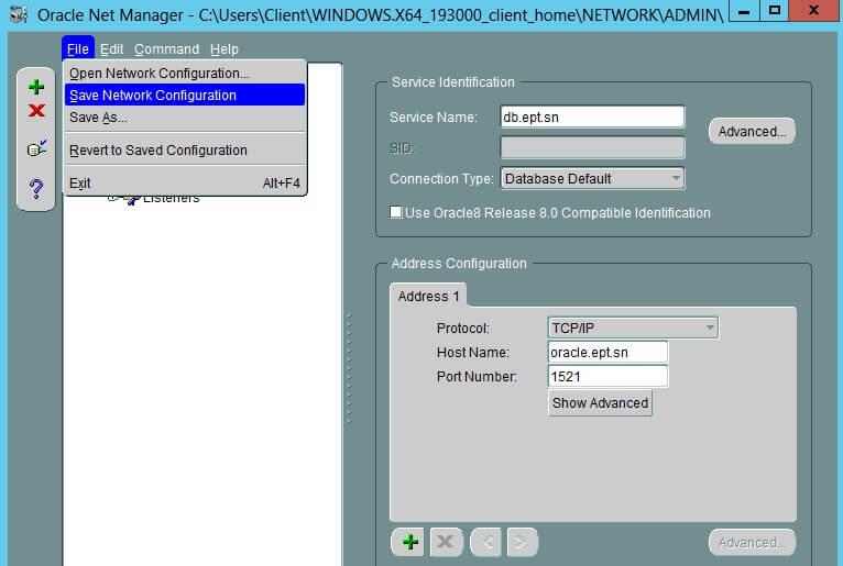 Configure Oracle Client 9