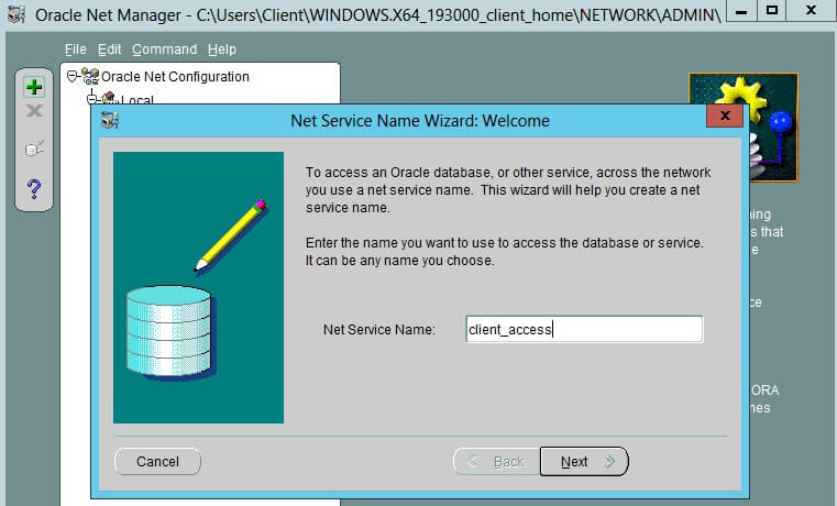 Configure Oracle Client 2